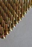 Śruby wykładać up w rzędach zdjęcie royalty free