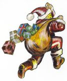świąt Mikołaj Royalty Ilustracja