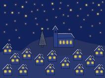 świąteczną noc ilustracji