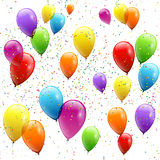Świąteczna balonu reala przezroczystość również zwrócić corel ilustracji wektora Obraz Stock