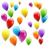 Świąteczna balonu reala przezroczystość również zwrócić corel ilustracji wektora zdjęcia stock