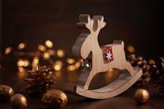 Świąteczna Bożenarodzeniowa rocznik dekoracja Szablon bożego narodzenia gree fotografia stock