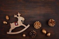Świąteczna Bożenarodzeniowa rocznik dekoracja Szablon bożego narodzenia gree obraz royalty free