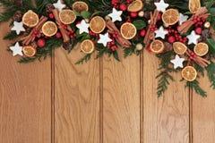 Świąteczna jedzenie granica Obraz Royalty Free