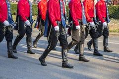 Świąteczna Militarna parada Zdjęcie Stock