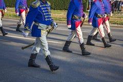 Świąteczna Militarna parada Obraz Stock