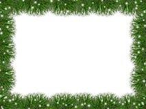 Świąteczna rama sosnowe igły Zdjęcie Royalty Free