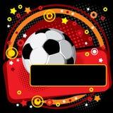 świąteczna tło piłka nożna Zdjęcia Stock