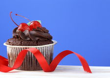 Świąteczna (urodziny, valentines dzień,) babeczka Zdjęcie Stock