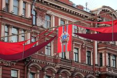 Świąteczne flaga z rozkazem Fotografia Stock