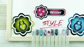 Świąteczne piłki i zima manicure zbiory wideo