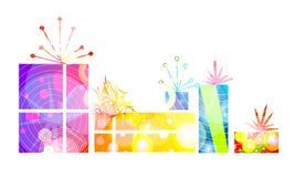 świąteczne prezenty daru światła ilustracji