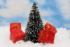 świąteczne prezenty drzewne Fotografia Royalty Free