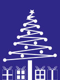 świąteczne prezenty drzewne Fotografia Stock