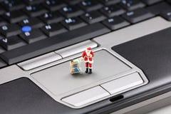 świąteczne zakupy online Fotografia Royalty Free