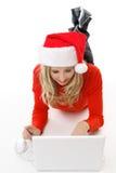 świąteczne zakupy online obrazy stock