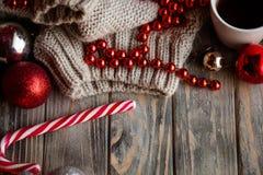 Świątecznego boże narodzenie wystroju sezonowy przybranie drewniany fotografia royalty free