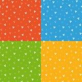 Świątecznego jaskrawego trójboka geometryczny bezszwowy wzór Fotografia Royalty Free