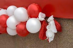 Świąteczni balony, niektóre pusty końcówka wakacje zdjęcia royalty free