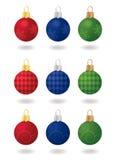 świąteczni Boże Narodzenie ornamenty ilustracja wektor