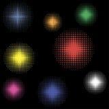 Świąteczni dyskotek światła Zdjęcia Royalty Free