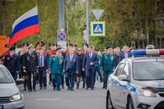Świąteczni wydarzenia dalej mogą 8, 2019 w Nevsky okręgu St Petersburg, Rosja obrazy stock