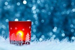 Świąteczny świeczka właściciel Obraz Stock