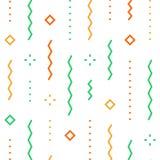 Świąteczny abstrakcjonistyczny tło, spada confetti wektoru wzór, minimalistyczna dekoracja, świętowania tło royalty ilustracja