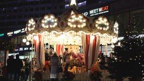 Świąteczny bezpłatny rondo na Arbat ulicie w Moskwa zbiory