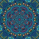 Świąteczny bezszwowy deseniowy doodle mandala Obrazy Stock