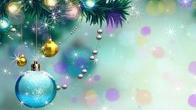 Świąteczny bożego narodzenia tło z piłkami i snowballs ilustracji