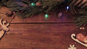 Świąteczny Bożenarodzeniowy drewniany tło zbiory