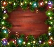 Świąteczny Bożenarodzeniowy odświętność szablon ilustracji