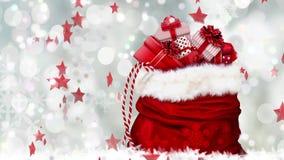 Świąteczny Bożenarodzeniowy tło, szczęśliwy nowego roku powitanie zbiory wideo