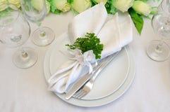 świąteczny czerepu porcja stół Zdjęcie Stock