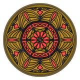 Świąteczny czerwieni, błękitnego i złotego ornament, Zdjęcie Stock