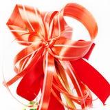 Świąteczny czerwony łęk. Zdjęcie Royalty Free