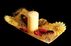 świąteczny dekoracja stół Zdjęcia Stock