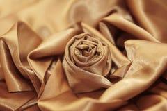 Świąteczny elegancki różany jedwabniczy Złoty Zdjęcie Stock