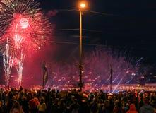 Świąteczny fajerwerku przedstawienie Fotografia Stock