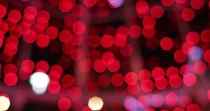 Świąteczny jaskrawy zamazany bokeh Zamazany bo?onarodzeniowe ?wiat?a abstrakta t?o zbiory wideo