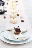świąteczny jesień stół Fotografia Stock