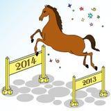 Świąteczny koński doskakiwanie Obrazy Stock