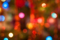 Świąteczny kolorowy bokeh zaświeca tło Zdjęcie Stock