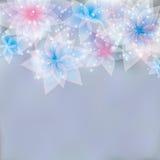 Świąteczny kwiecisty tło ilustracji