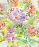 Świąteczny lekki bezszwowy wzór wodni kolory w pastelowych kolorach dla tapety, tkanin i papieru, Zdjęcie Royalty Free
