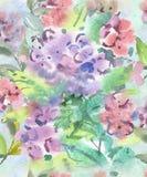 Świąteczny lekki bezszwowy wzór wodni kolory w pastelowych kolorach dla tapety, tkanin i papieru, Zdjęcie Stock