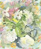 Świąteczny lekki bezszwowy wzór wodni kolory w pastelowych kolorach dla tapety, tkanin i papieru, Obraz Stock