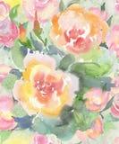 Świąteczny lekki bezszwowy wzór wodni kolory w pastelowych kolorach dla tapety, tkanin i papieru, Obraz Royalty Free