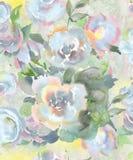 Świąteczny lekki bezszwowy wzór wodni kolory w pastelowych kolorach dla tapety, tkanin i papieru, Fotografia Royalty Free